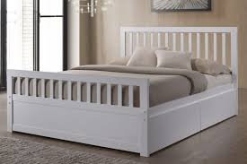 double white wooden storage bed frame sleep