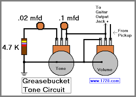 greasebucket tone circuit for guitar fender says that this tone control acts differently because it rolls off the high frequencies but does not add bass actually that is incorrect because