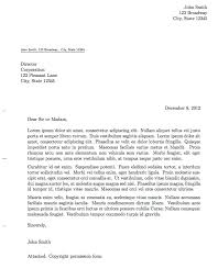 correct format of resumes fresh format of letter to senator co write a proper writing