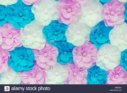 Paper Flower Background Pink Blue And White Flowers Large Colored Paper Flowers Background