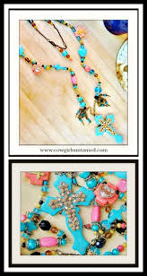 turquoise gold rhinestone cross pendant pink black aqua heart love crystal pearl c rosary long necklace
