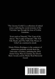 the literary gothic marija elektra rodriguez  the literary gothic marija elektra rodriguez 9780987600905 com books
