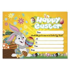 Details About 20 X Easter Egg Hunt Party Invitation Easter Hunt Invites Kids Child Adult