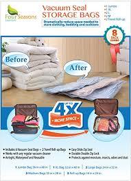 Amazon.com: Vacuum Storage Bags, 8 Multi-size Premium Quality Space ...