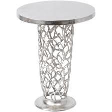libra company romano c 431000 nickel textured pedestal side table