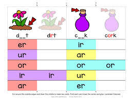 Free printable phonics flashcards,handouts, posters, worksheets, phonics games and other printables to support your r controlled vowels: R Controlled Vowels Clip Cards And Worksheet Freebie Spark Esl