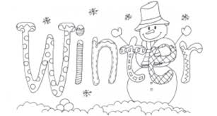 Small Picture Winter Coloring Pages For Kids Print Winter Coloring Pages For