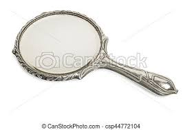 ornate hand mirror. Antique Silver Hand Mirror Cut Out - Csp44772104 Ornate Hand Mirror