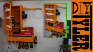 Hanging Charging Station French Cleat Drills Bits Charging Station Youtube