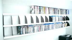wall mounted dvd storage wall mounted shelves shelves wall mount shelf unit rev shelving wall mounted