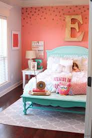 bedroom ideas for girls. Contemporary Girls Tattered And Inked Coral U0026 Aqua Girlu0027s Room Makeover With Bedroom Ideas For Girls N