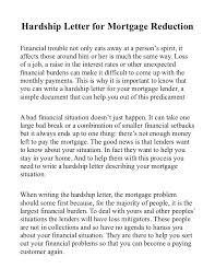 mortgage modification hardship letter hardship letter for mortgage reduction