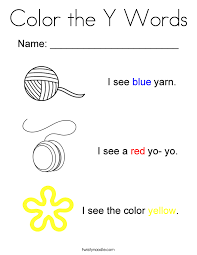 Small Picture Color the Y Words Coloring Page Twisty Noodle