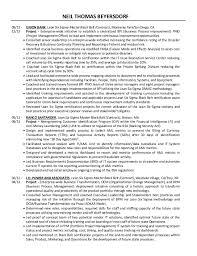 Six Sigma Green Belt Resume Dennis Frankos Resume And Cv Perfect
