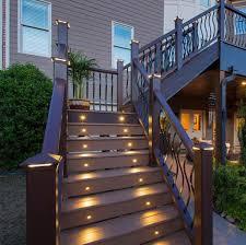 trex deck lighting. Recessed Riser LED Light By Trex DeckLights - Hammered Bronze Deck Lighting R