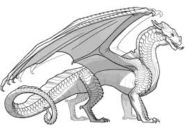 Disegno Di Drago Ali Di Sabbia Da I Regni Del Fuoco Da Colorare