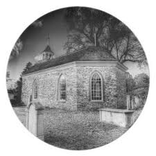 old dutch church of sleepy hollow plate home gifts ideas decor special unique custom individual