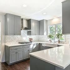 white cabinets grey and classic gray kitchen craftsman countertops granite