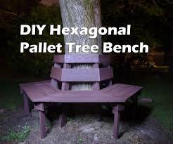 wood pallet furniture diy. DIY Hexagonal Tree Bench From Wood Pallets - 100% Pallet Furniture Diy