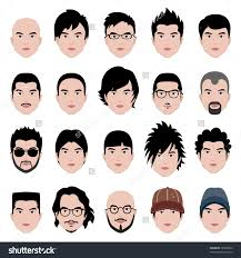 Hairstyle According To My Face Man Men Male Human Face Head Stock Vector 73930054 Shutterstock