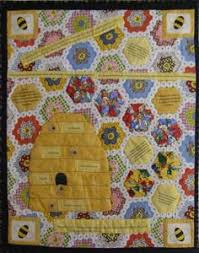 debbie mumm honey bee quilt | beehive quilt block, and since ... & What a super cute pattern. The mix of hexagons with the embroidered beehive  is cute. Bee NurseryHexagon QuiltingBee ... Adamdwight.com