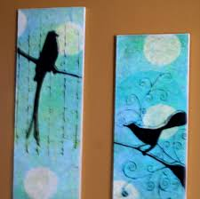 on paper wall art tutorial with bird faux oil painting frugal wall art diy with tutorial