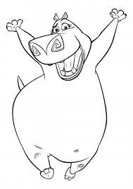 hippopotame gloria livre de coloriage