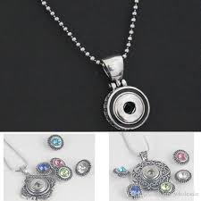 whole new arrival snap jewelry 12mm snap on round shape antique pendant necklace interchangeable snaps necklace for noosa snaps jewelry mens