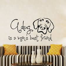 Dog Best Friend Quotes Magnificent Dog Wall Decal Quotes A Dog Is A Mans Best Friend Vinyl Etsy