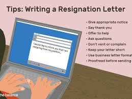 Resigned Format Sample Resignation Letter For Quitting Your Job