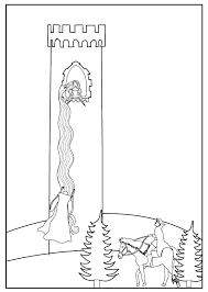 Small Picture to accompany Grimms Fairytale Rapunzel colouring sheet Kids