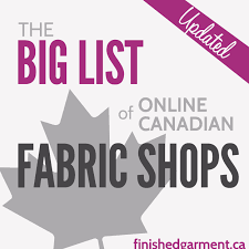 The Big List of Canadian Online Fabric Shops - The Finished Garment & The Big List of Online Canadian Fabric Shops Adamdwight.com