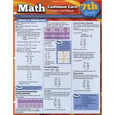 Common Core Math Standards Chart Quickstudy Bar Charts Common Core Math Grade 7 Grade 7
