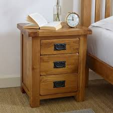rustic bedside table oak furniture