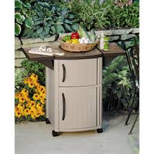 Suncast Serving Station Patio Cabinet  Patio Storage At - Exterior storage cabinets