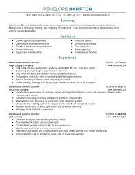 General Laborer Resume Objective Sample Labor Job Description