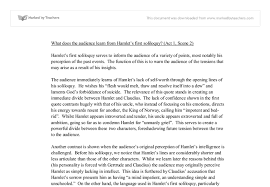 what does the audience learn from hamlet s first soliloquy a  document image preview
