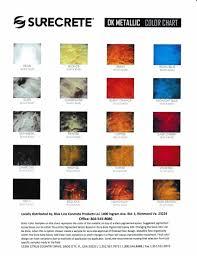 Blue Line Concrete Products Surecrete Color Chart