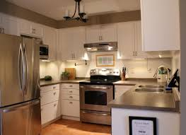 White Kitchen Cabinet Makeover Kitchen Cabinets White Paint Dark Greyish Countertops Greige