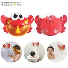 treeone funny bath bubble maker children automated spout crab bath toy cute bubble making