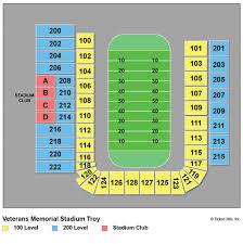 Troy University Stadium Seating Chart War Memorial Stadium Tickets Related Keywords Suggestions