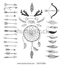 Dream Catcher Symbolism Classy Vector Tribal Design Elements Aztec Symbols Arrows Dream Catcher