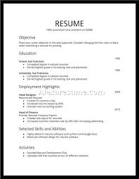 Create New Resume Free Quick Resume Template Create Free Resume On
