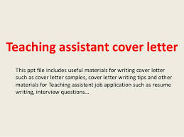 Gallery Of Teaching Assistant Cover Letter Application For