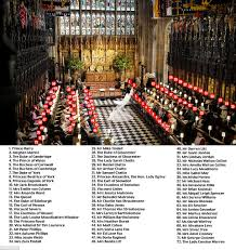 Seating Chart Royal Wedding Royal Wedding Guide To Who Sat Where At Harry And Meghans