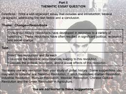 change revolutions the ian revolution ppt video online thematic essay question you are not limited to these suggestions