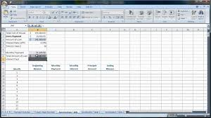 Amortization Table For Loan Excel 2007 2010 Amortization Tables Loan Amounts You Pay Each Month