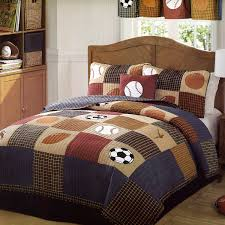 glamorous bedroom design ideas using the best sports bedding sets and hockey bedding on wooden upholstered