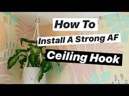 how to install a ceiling hook perfect