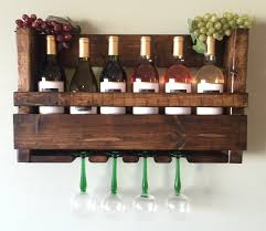 natural brown wooden rack with bottle shelf on the top also upside down glass handler plus gs ornaments